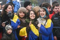 Jeunesse au jour national de la Roumanie Photographie stock libre de droits