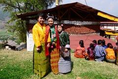 Jeunesse bhoutanaise photo libre de droits