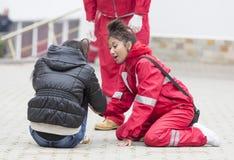 Jeunesse de Croix-Rouge Images stock