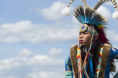 Jeunesse de natif américain Photographie stock libre de droits