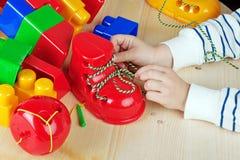 Jeux éducatifs de jeu d'enfants Images libres de droits