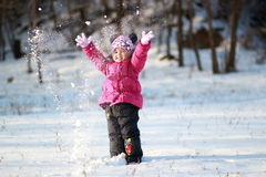 Jeux avec la neige Image stock