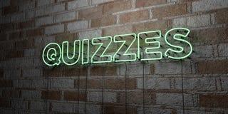 JEUX-CONCOURS - Enseigne au néon rougeoyant sur le mur de maçonnerie - 3D a rendu l'illustration courante gratuite de redevance illustration libre de droits