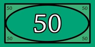 Jeux d'argent des 50 dollars Photographie stock