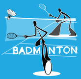 Jeux de action de sport d'Iindividual de badminton Photo stock