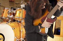 Jeux de bassiste Photos stock