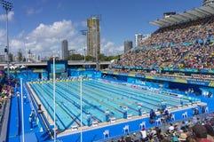 Jeux 2018 de Commonwealth nageant le lieu de rendez-vous images stock