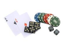 Jeux de hasard Image libre de droits