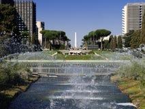 Jeux de l'eau à Rome image libre de droits