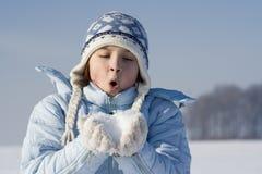 Jeux de neige Photos libres de droits