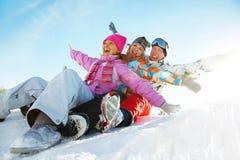 Jeux de neige Photo stock