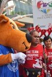 Jeux 2015 de Para de mascotte de promenade-Un-Wheelathon de renne Photos stock