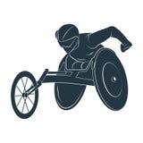 Jeux de Paralympic L'athlète dans le fauteuil roulant illustration libre de droits