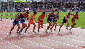 Jeux de plein air internationaux de DecaNation le 13 septembre 2015 à Paris, France Photographie stock libre de droits