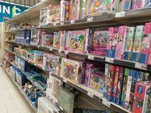 Jeux de puzzle d'enfants Image libre de droits