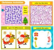Jeux de puzzle de Noël Photographie stock