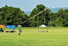 Jeux des montagnes d'†de lancée de tronc «, Salem, VA photographie stock