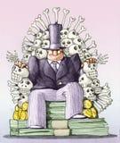 Jeux des trônes, aspiration capitaliste d'humeur illustration stock
