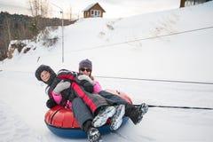Jeux drôles d'hiver Photos libres de droits