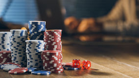 Jeux en ligne de casino Photos stock