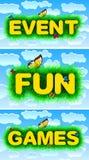 Jeux fun d'événement Images stock