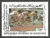 Jeux Olympiques à Los Angeles, fonctionnant Image stock
