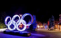 Jeux Olympiques d'hiver Images libres de droits
