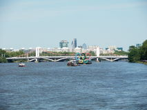 Jeux Olympiques de la Tamise Londres d'anneaux Images stock
