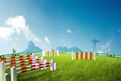 Jeux Olympiques de saut d'obstacles d'équitation Photos libres de droits
