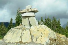 Jeux Olympiques de siffleur de Vancouver Inukshuk 2010 Photographie stock