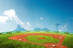 Jeux Olympiques de terrain de base-ball Photo libre de droits