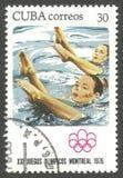 Jeux Olympiques Montréal, natation synchronisée Photo stock