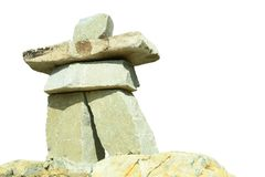 Jeux Olympiques Vancouver d'inukshuk Image stock