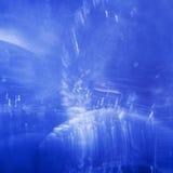 Jeux sous-marins abstraits avec les bulles et la lumière Images stock