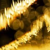Jeux sous-marins abstraits avec les bulles et la lumière Photo stock
