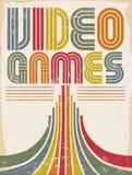Jeux vidéo - affiche illustration de vecteur