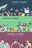 Jeux vidéo d'ordinateur Image stock