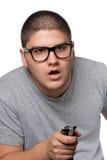 Jeux vidéo de jeu de l'adolescence Images stock
