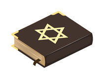 Jew bible book  illustration. Stock Image