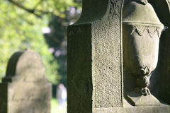 Jew cemetery. Old gravestones Royalty Free Stock Images