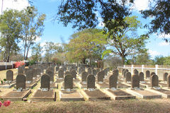 The cemetery at St Martin, Mauritius Royalty Free Stock Photography