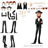 Jew create character set Royalty Free Stock Photo