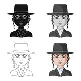 Jew.Human race single icon in cartoon style vector symbol stock illustration web. Jew.Human race single icon in cartoon style vector symbol stock illustration stock illustration
