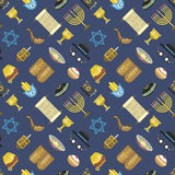 Jew icons vector seamless pattern. Royalty Free Stock Photos