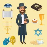Jew icons vector set. Stock Images