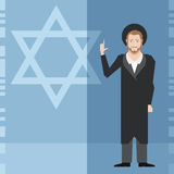 Jew and jewdaism banner Stock Photography