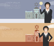 Jew and jewdaism banner Royalty Free Stock Photography