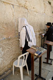 Jewish men praying. At the Western wall Stock Images