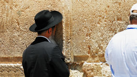 Jew pray at the Western Wall in Jerusalem Stock Photography
