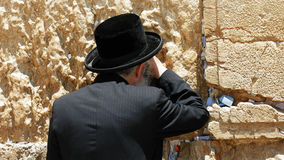 Jew pray at the Western Wall in Jerusalem Royalty Free Stock Images